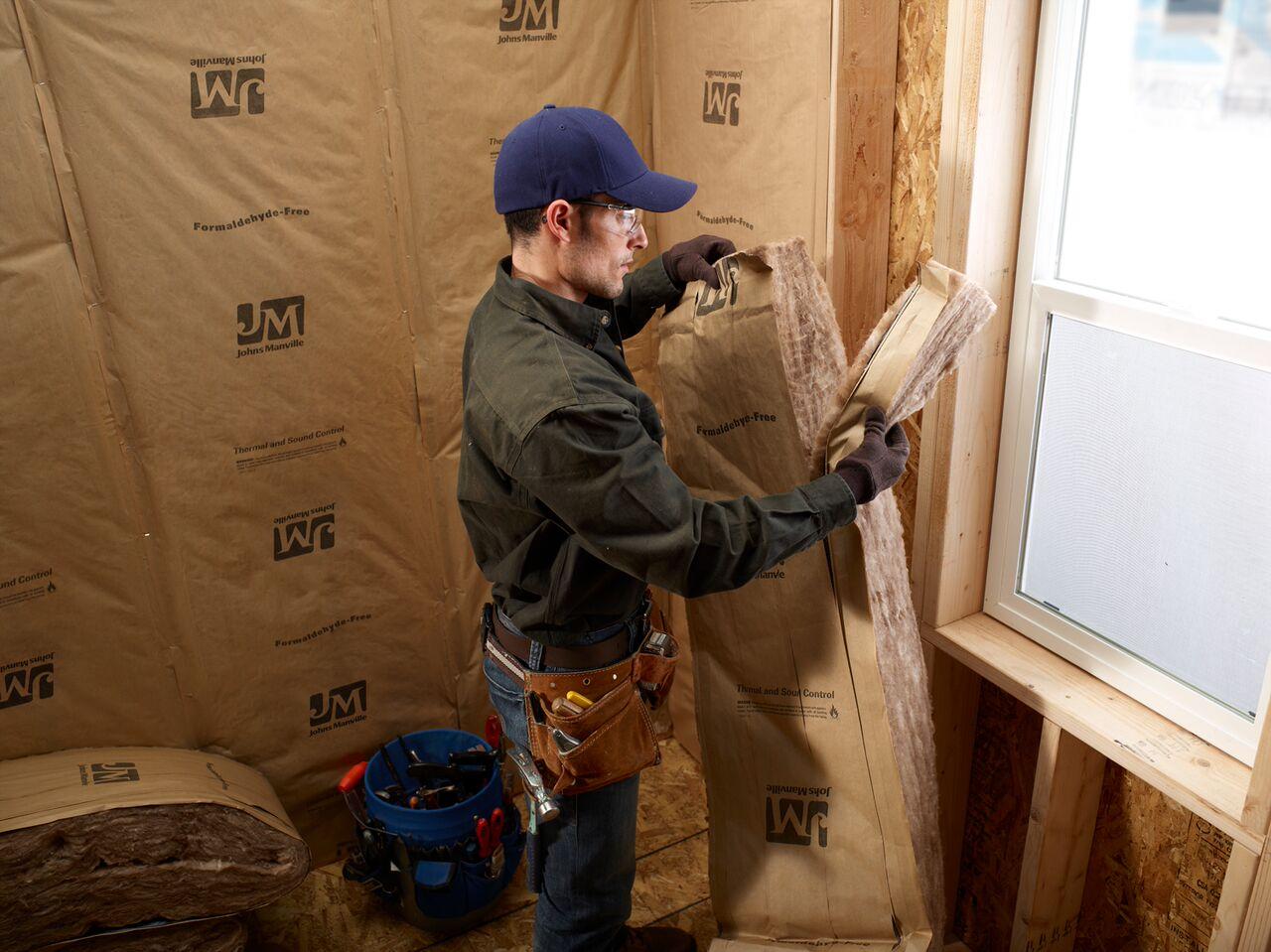 Johns Manville R 30 Kraft Faced Fiberglass Insulation Batt