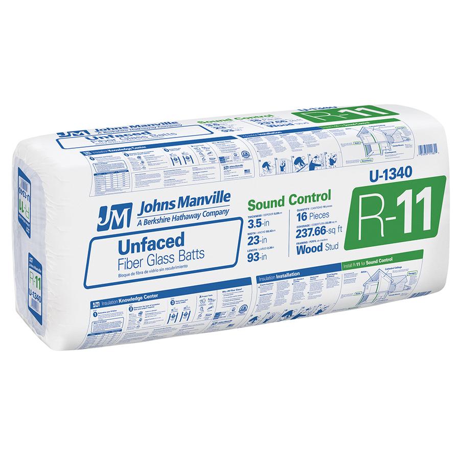 Johns Manville R 11 Unfaced Fiberglass Insulation Batt 24